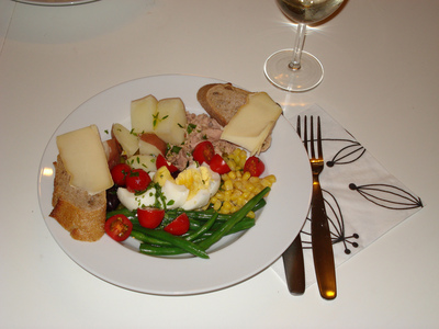 Salade Niçoise: after